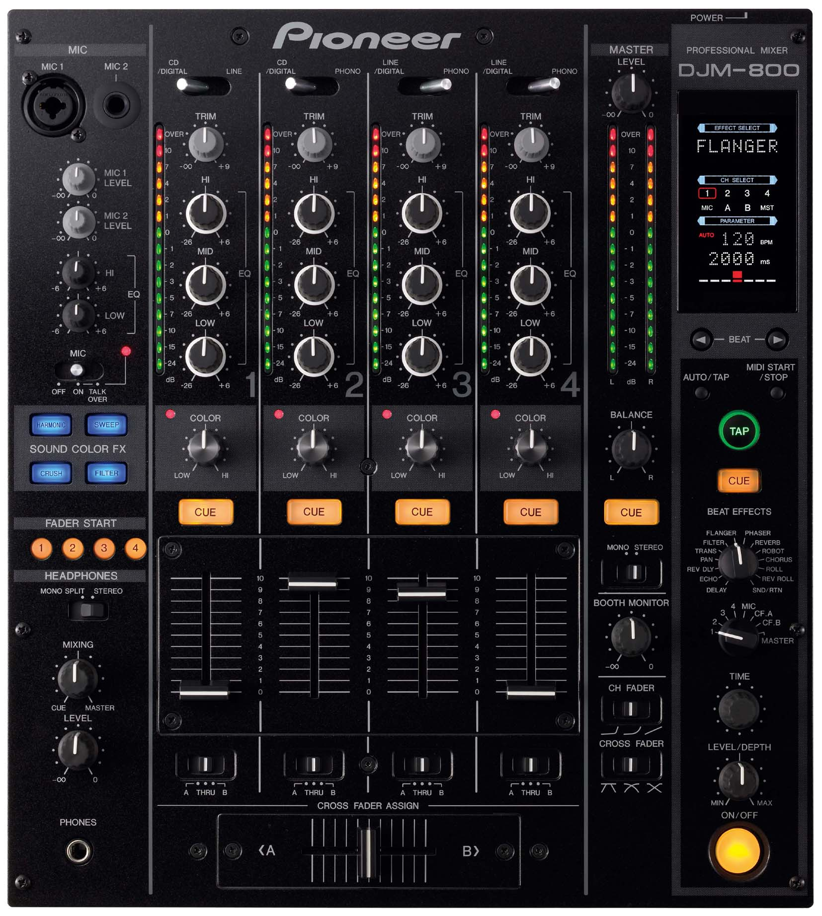 pioneer djm 800 dj mixer new jsfrance. Black Bedroom Furniture Sets. Home Design Ideas