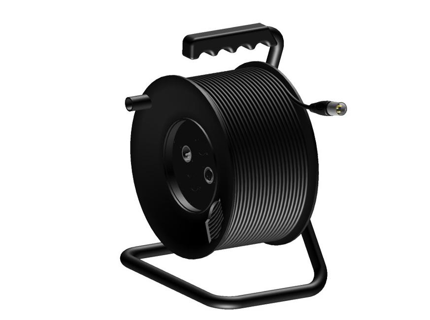 Enrouleur pour câble DMX 5 points standard  50M (Neuf  ~ Enrouleur Cable Bois