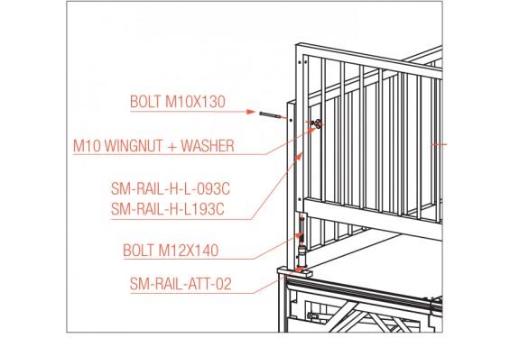 prolyte rambarde de s curit d 39 angle 100kg m l 193 cm neuf jsfrance. Black Bedroom Furniture Sets. Home Design Ideas