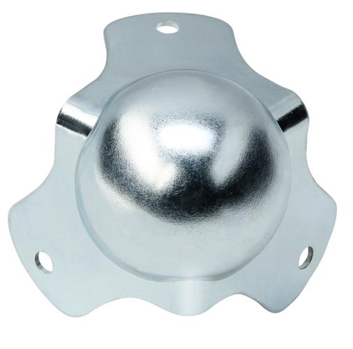 Zinc 1.5 mm acier Coin boule grand modèle Adam Hall découpé 2 pattes