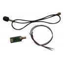 Carte récepteur DMX HF 2.4GH V2 avec antenne wifi boule 0.5dB (Neuf)