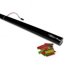 Canon à confettis électrique à usage unique - 80cm - Multicolore (Neuf)