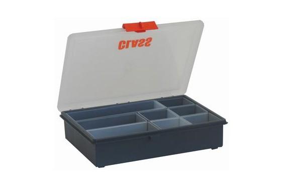 storage s rie 5000 mallette de rangement avec 8 godets amovibles 186x240x55mm bleu avec. Black Bedroom Furniture Sets. Home Design Ideas