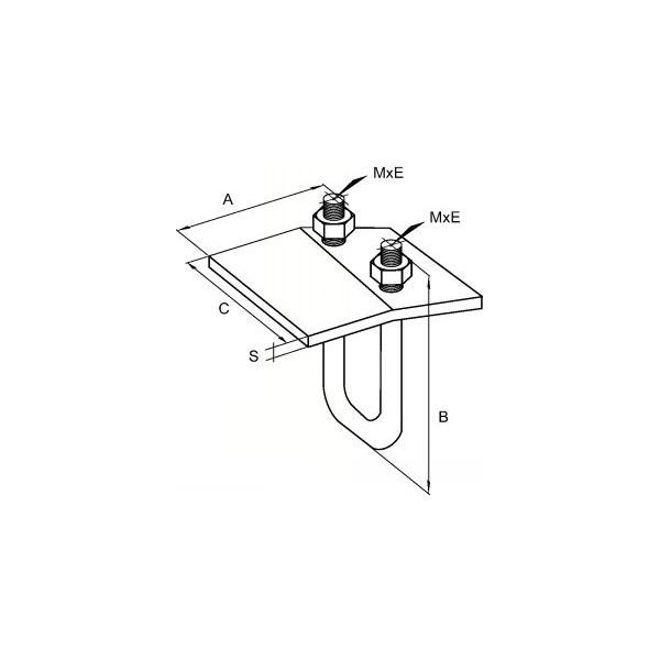 trier de fixation sur structure m tallique pour rail. Black Bedroom Furniture Sets. Home Design Ideas
