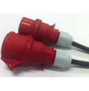 Prolongateur électrique 16A prise femelle CEE 5 pôles vers prise mâle CEE 5 pôles 380V - Titanex 5g2.5 - 3m (Neuf)
