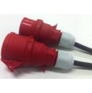 Prolongateur électrique 16A prise femelle CEE 5 pôles vers prise mâle CEE 5 pôles 380V - Titanex 5g2.5 - 5m (Neuf)
