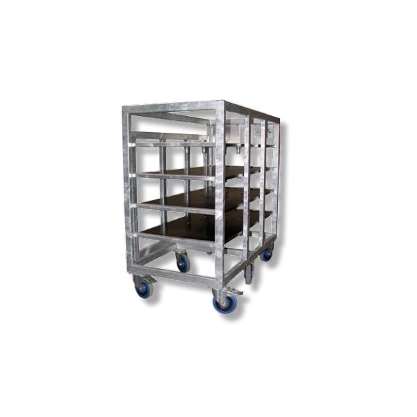 Asd chariot en acier galvanis pour 4 embases - Porte en acier galvanise ...