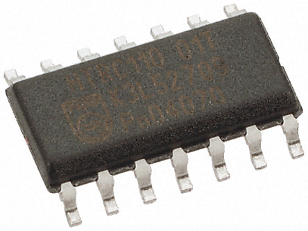 Quadruple nand 2 entr es porte logique 74hct132d 652 for Porte logique and transistor