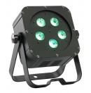 CONTEST - irLEDFLAT 5x5QCb - Projecteur compact 5 LEDs 5W RGBW - Noir (Neuf)