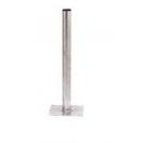 Pied droit dimension 50 hauteur 600mm galvanisé (Neuf)