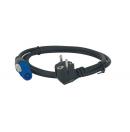 SHOWTEC - Câble d'alimentation Schuko vers Powercon 3G2.5mm² - 1.5m (Neuf)