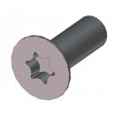 MARTIN - Vis DELTA PT 4x12 torx - Noir pour lyre MARTIN (Neuf)