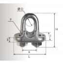 Serre câble à étrier zingue D5 - SCG05 (Neuf)