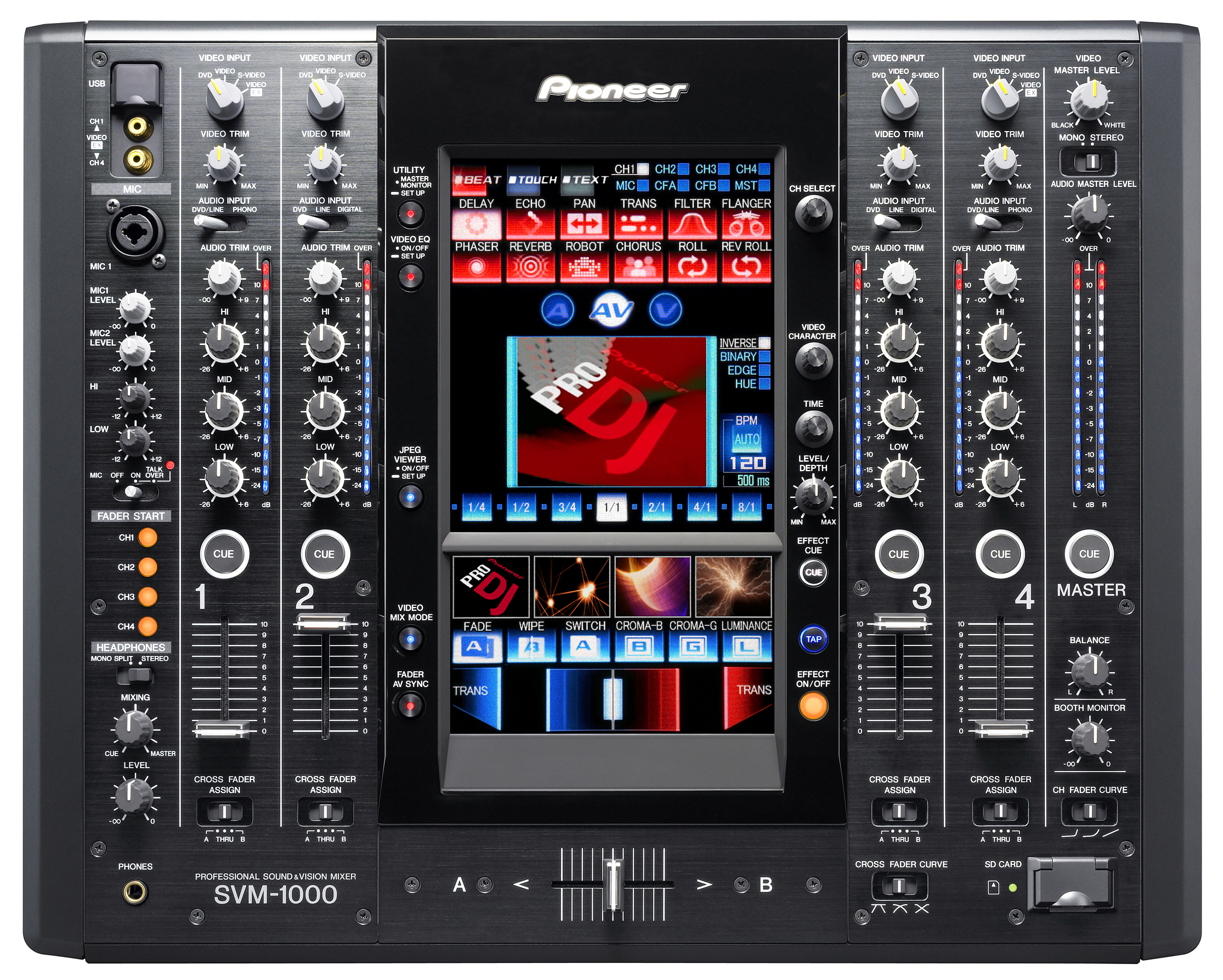 pioneer svm 1000 4 channel audio and video mixer. Black Bedroom Furniture Sets. Home Design Ideas