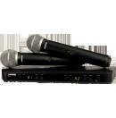 SHURE - Ensemble micro à main HF sans fil BLX288e/PG58 (Neuf)