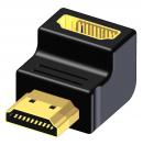 PROCAB - Adaptateur HDMI mâle 19 pôles vers HDMI femelle 19 pôles - coudé 90° - BSP460 (Neuf)