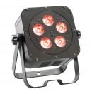 CONTEST - irLEDFLAT 5x5QCb25° - Projecteur compact 5 LEDs 5W RGBW - Noir (Neuf)