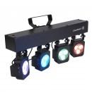 CONTEST - TRI4U - Rampe 4 projecteurs à 3x4 LEDs 3x4W RGB (Neuf)