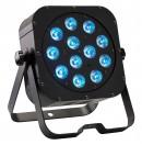 CONTEST - irLEDFLAT 12x12SIXb - Projecteur compact 12 LEDs 12W RGBWA + UV avec télécommande - Noir (Neuf)