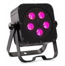 CONTEST - irLEDFLAT 5x12SIXb - Projecteur compact 5 LEDs 12W RGBW + UV avec télécommande - Noir (Neuf)
