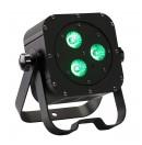 CONTEST - irLEDFLAT 3x12SIXb - Projecteur compact 3 LEDs 12W RGBW + UV avec télécommande - Noir (Neuf)