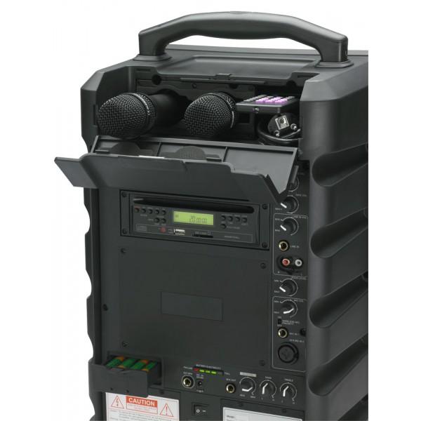 audiophony sprinter122 enceinte portable amplifi e bluetooth 120w avec lecteur cd usb sd. Black Bedroom Furniture Sets. Home Design Ideas