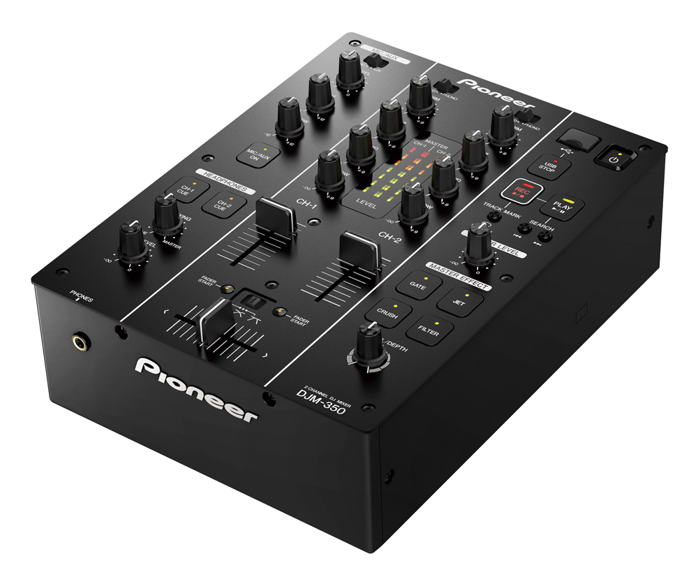 pioneer table de mixage 2 voies usb djm 350 flight. Black Bedroom Furniture Sets. Home Design Ideas
