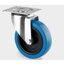 TENTE - Roulette pivotante sans frein D=125mm - Bleu (Neuf)