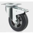 TENTE - Roulette Pivotante avec frein D=200mm - Noir (Neuf)