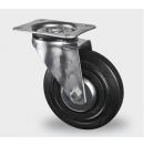 TENTE - Roulette pivotante sans frein D=100mm - Noir - vendu par lot de 40 pièces (Neuf)