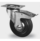 TENTE - Roulette Pivotante avec frein D=100mm - Noir - vendu par lot de 40 pièces (Neuf)