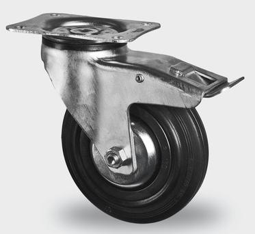 tente roulette pivotante avec frein d 100mm noir vendu par lot de 40 pi ces neuf jsfrance. Black Bedroom Furniture Sets. Home Design Ideas