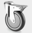 TENTE - Roulette Pivotante à oeil avec frein D=100mm - Gris - vendu par lot de 40 pièces (Neuf)