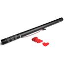 Canon à confettis électrique à usage unique - 80cm - Coeur Rouge  (Neuf)