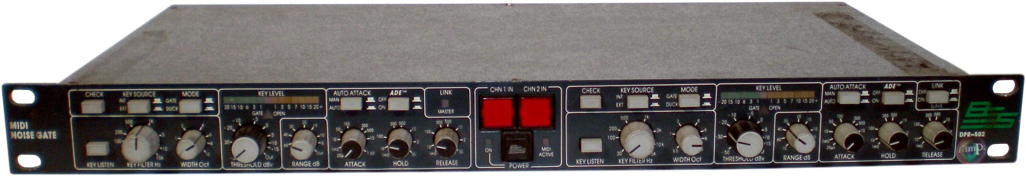 BSS - DPR-502 - Dual midi noise gate (Used)