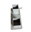 Adaptateur pour ajouter une roulette sur les pieds doubles de praticable - tubes 48/50mm ronds ou carrés (Neuf)