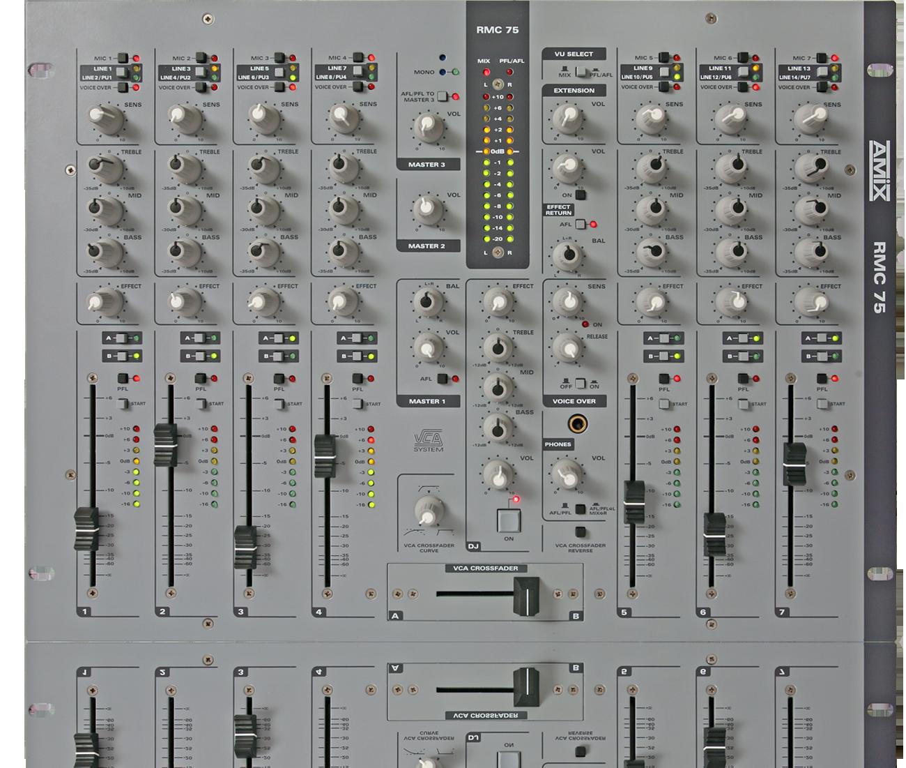 Amix table de mixage rmc75p 7 voies 1 voie dj potentiom tre professionnel neuf jsfrance - Table de mixage professionnel ...