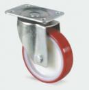 TENTE - Roulette pivotante renforcée sans frein D=100mm - Rouge (Neuf)