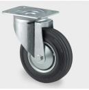 TENTE - Roulette pivotante sans frein D=200mm - Noir (Neuf)