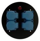 SCHILL - Couvercle avec 4 prises 16A pour enrouleur de câble avec témoin lumineux (Neuf)