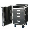 SHOWTEC - Flight-case polyvalent 4 tiroirs 12U + plan de travail intégré (Neuf)