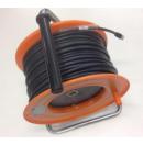 Touret de câble vidéo digital BNC 1694A avec connecteurs BTU11  - 75 m (Neuf)