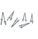 ADAM HALL - Rivets aveugle en aluminium Multigrip 5 x 18 mm (Neuf)