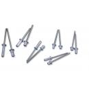 ADAM HALL - Rivets aveugle en aluminium Multigrip 5 x 25 mm (Neuf)
