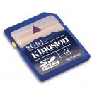 KINGSTON - Carte mémoire SDHC 8 Go - Class 4 (Neuf)