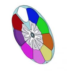 MARTIN - Roue de couleurs avec dichroïques pour lyre Mac 250 Wash (Neuf)
