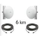Kit pont réseau Haut débit - 5 GHz -Longue portée jusqu'à 6 km - (Neuf)