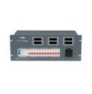 SHOWTEC - Bloc d'alimentation PSA-32A12M - Module tétra 32A  12 x 16A mono avec 6 sorties Schuko et 2 harting 16 pôles (Neuf)