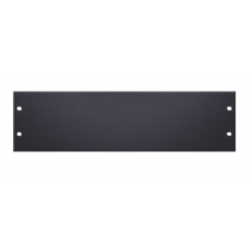 "ADAM HALL - Tôle aveugle rack 19"" 3U vierge noir acier (Neuf)"
