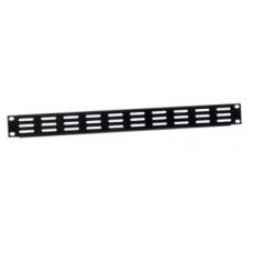 "ADAM HALL - Tôle rack 19"" 1U vierge noir ventilé (Neuf)"